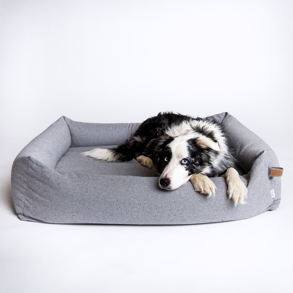 Hundebett Sleepy Deluxe Tweed Grey
