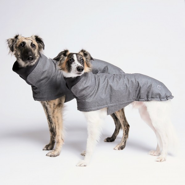 Hundemantel Brooklyn Wool Grey wasserdicht